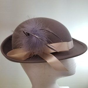 Vintage Mouchoir 1960's French Lilac Fedora